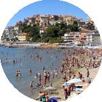 View on the Spiaggia d'Oro in Imperia Porto Maurizio